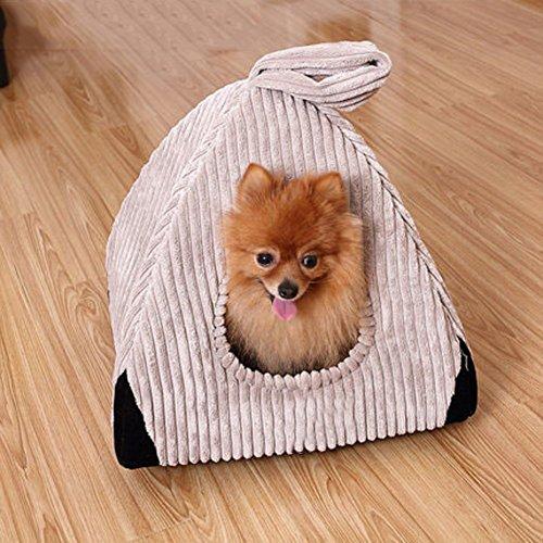 SL&ZX Carpa Plegable,Criadero Mascotas Nido caseta Personal Perro al Aire Libre casa Perro casa Perro Jaula Verano Fuentes del Animal doméstico-Gris ...