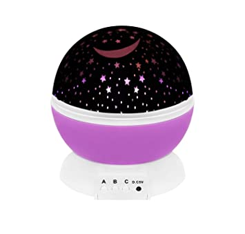 Nachtlicht Sternenhimmel Projektor 3 Funktionen Farben Batterie USB 5764