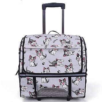 XDYFF Transportín Bolso Bandolera Bolsa Palanca para Mascotas extraíble de Gama Alta Mochila para Mascotas Gato y Perro salen Mochila Equipaje de Viaje,B: ...