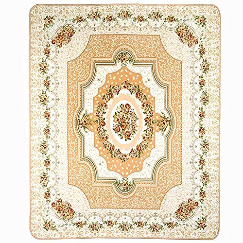 """LISIBOOO European Modern Floral Royal Court Flannel Carpet [Made in USA] Area Rugs for Entryway Doorway Hallway Living Room Dining Room (3'11""""x5'10"""", Beige) Review"""