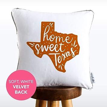 Amazon.com: Home Sweet Texas - Almohada de sirena con letras ...