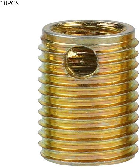 10 st/ücke 308 Typ 3-loch Kohlenstoffstahl selbstschneidende Gewinde Eins/ätze Gewinde Reparatursatz Inside: M10*1.5 Outside: M14*1.5 Length: 18MM