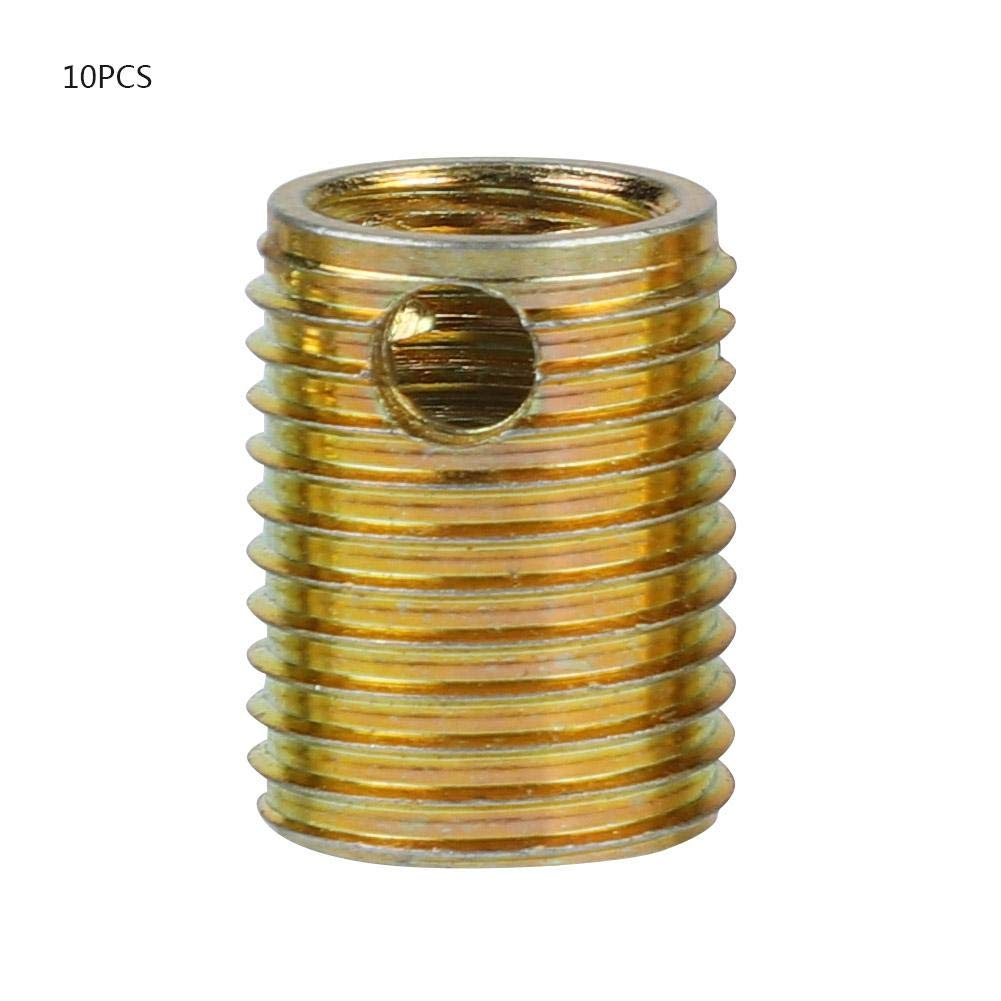10Pcs Self Tapping Thread Inserts M3-M20 3-hole Zinc Plated Carbon Steel Thread Repair Inserts 308 Type Combination Kit Set Replacement for Thread Repair Furniture (#6) by Wal front