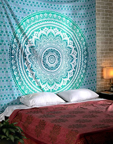 Turquoise Tapestry Bohemian Hanging Tapestries