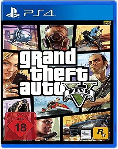 Take-Two Interactive GTA V, PS4 - Juego (PS4, PlayStation 4, Acción / Aventura, Rockstar North, M (Maduro), En línea, ENG): Amazon.es: Videojuegos