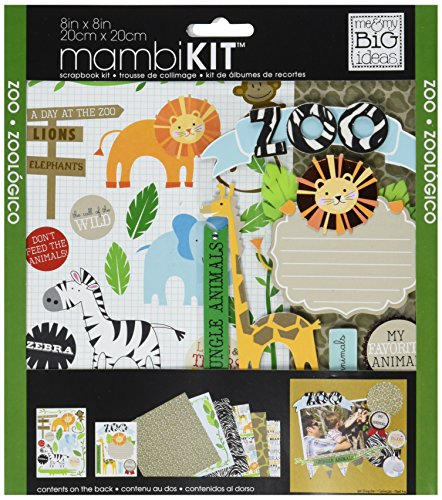 (me & my BIG ideas Scrapbook Page Kit, Zoo, 8-Inch by 8-Inch)