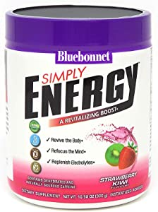 Bluebonnet Nutrition Simply Energy Powder, Strawberry Kiwi, 10.58 Ounce