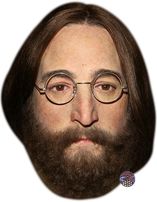 Card Face and Fancy Dress Mask John Lennon Celebrity Mask