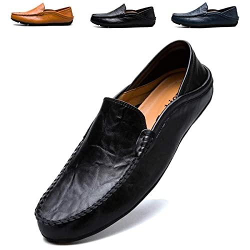 0333a41ef7 RDGO Penny Loafers Men Shoes Slip On Moccasins Driving Shoes Lightweight  Flats Leather Casual Boat Shoes Walking Shoes
