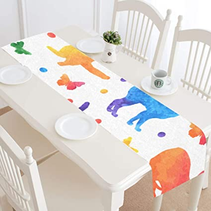 Amazon.com: WBSNDB Country Kitchen Table Runner Colorful ...