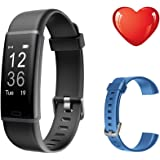 Fitness Tracker HR with Replacement Band, Letscom Activity Tracker Watch with Heart Rate Monitor, IP67 Waterproof Smart Wristband, Step Counter Pedometer Watch for Kids Women and Men