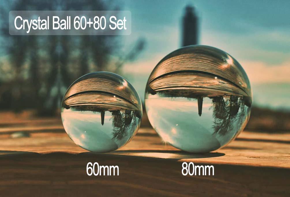 MerryNine Fotografia lente a sfera con sacchetto, sfera di cristallo K9Suncatchers con custodia in microfibra, decorativo e fotografia di