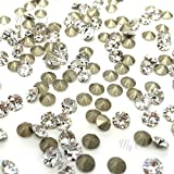 CRYSTAL (001) clear Swarovski 1088 XIRIUS Chaton Round Stones pointed back rhinestones PP15 (2.10 - 2.20 mm) 144 pcs (1 gross) *FREE Shipping from Mychobos (Crystal-Wholesale)*
