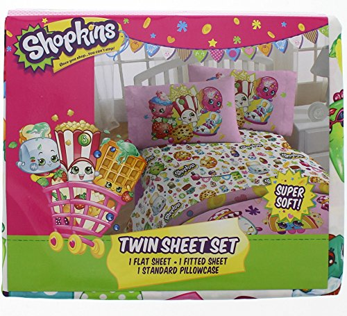 Shopkins Twin Sheet and Pillowcase Set