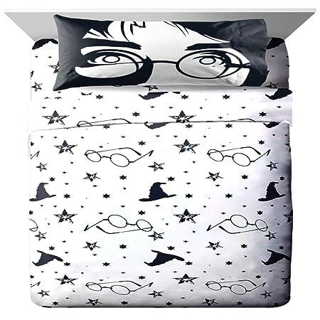 Juego de sábanas de tamaño completo de Harry Potter, 4 ...