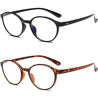 VEVISTARS Lesebrille Damen Herren Leicht Vollrandbrillen Flexibel Arbeitsplatzbrille Rectankig Gläser Schwarz Rot Braun (2.0x, 3Stück Set Lesebrillen(Schwarz+Rot+Braun))