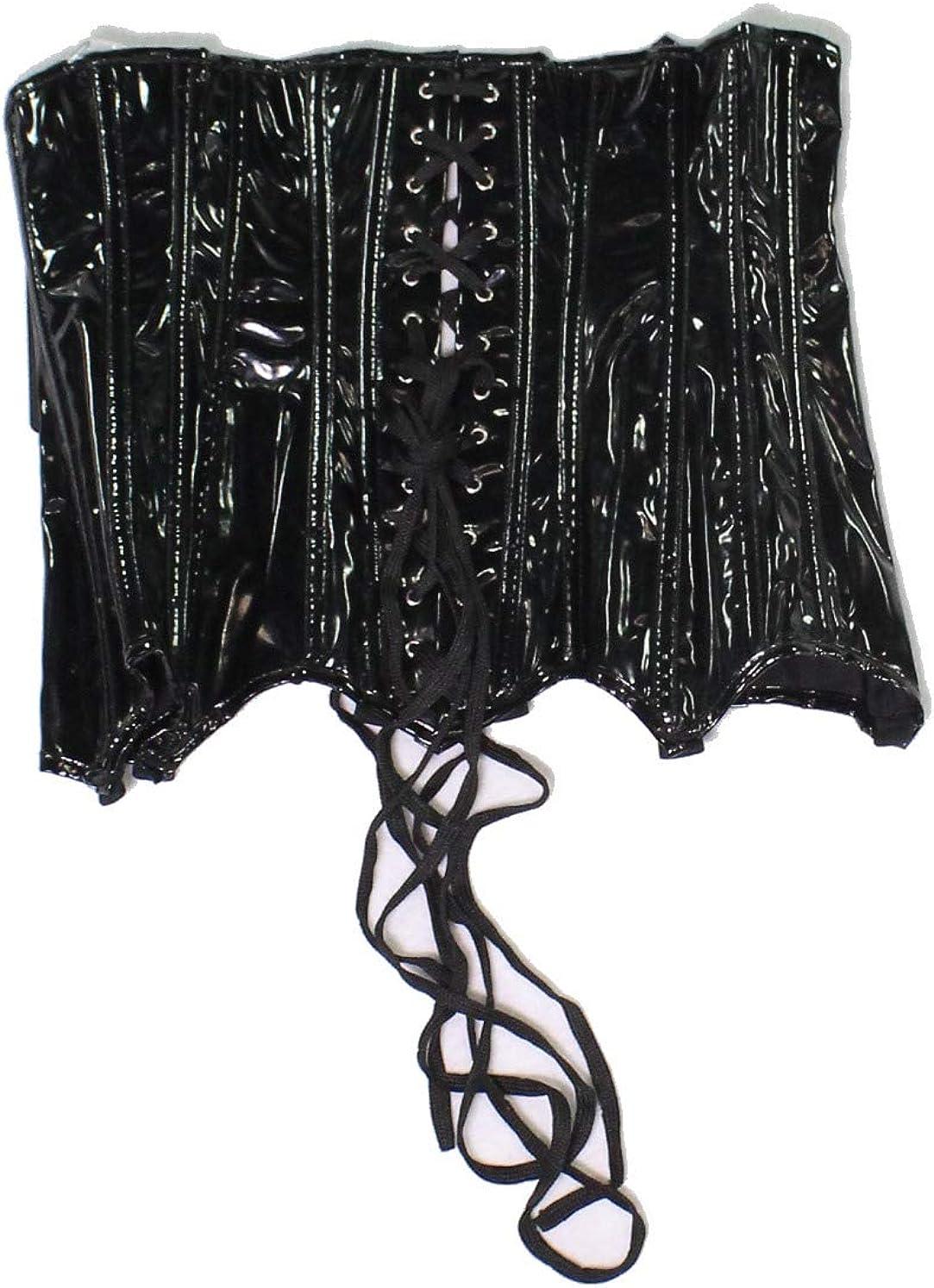 Coquette Womens Darque PVC Waist Cincher