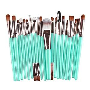 ABC® 20 pcs Makeup Brush Set tools Make-up Toiletry Kit Wool Make Up Brush Set (Rose Gold)