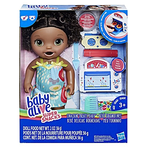 Baby Alive Snackin' Treats Baby (Black Curly Hair) JungleDealsBlog.com