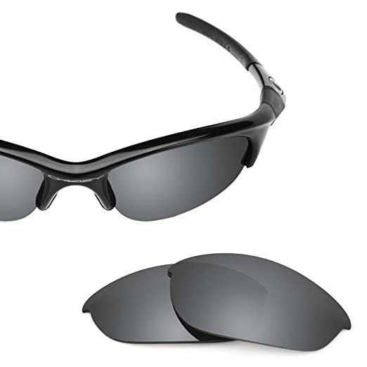 afbcfd89fd2 Revant Polarized Replacement Lenses for Oakley Half Jacket Elite Black  Chrome MirrorShield