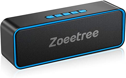 Amazon.com: ZoeeTree Bluetooth Speaker, Wireless Speaker V5.0 with HD Stereo Sound and Deep Bass, TWS, 12 Hours Playtime Portable Speaker, FM Radio, Built-in Mic, for Home Party, Travel, Outdoor: Home Audio & Theater