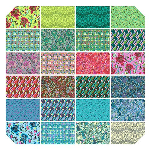 (Natural Beauty Fat Quarter Bundle by Amy Butler from Free Spirit - 24 Fat Quarters - 100% Cotton Quilt Fabric - FB2FQABNATUR)