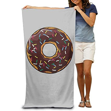 Marrón Donut niños toallas Cool toallas de baño de limpieza Bulk tamaño Extra grande toalla de