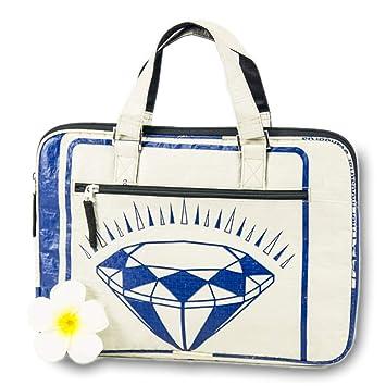 KHMAI upcycling Bolsa de Ordenador portátil Diamond Azul ...