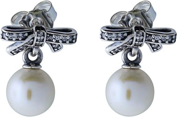 orecchini pandora argento e perle