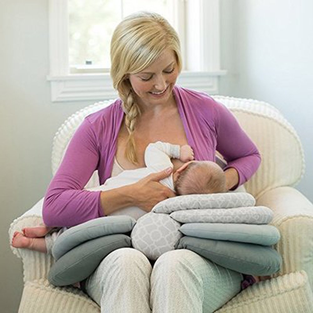 SHP Breastfeeding Pillow, Maternity Nursing Pillows for Breastfeeding, Adjustable Height, Baby Breastfeeding Pillow Adjustable Baby Nursing Pillow for 0-12 Months Newborn and Infant shengpin