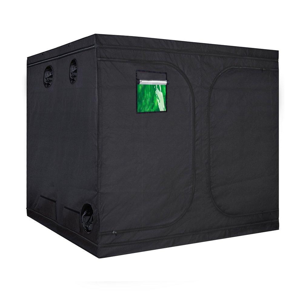 TopoLite 96''x96''x80'' Indoor Grow Tent Hydroponic Growing Dark Room Green Box with Viewing Window