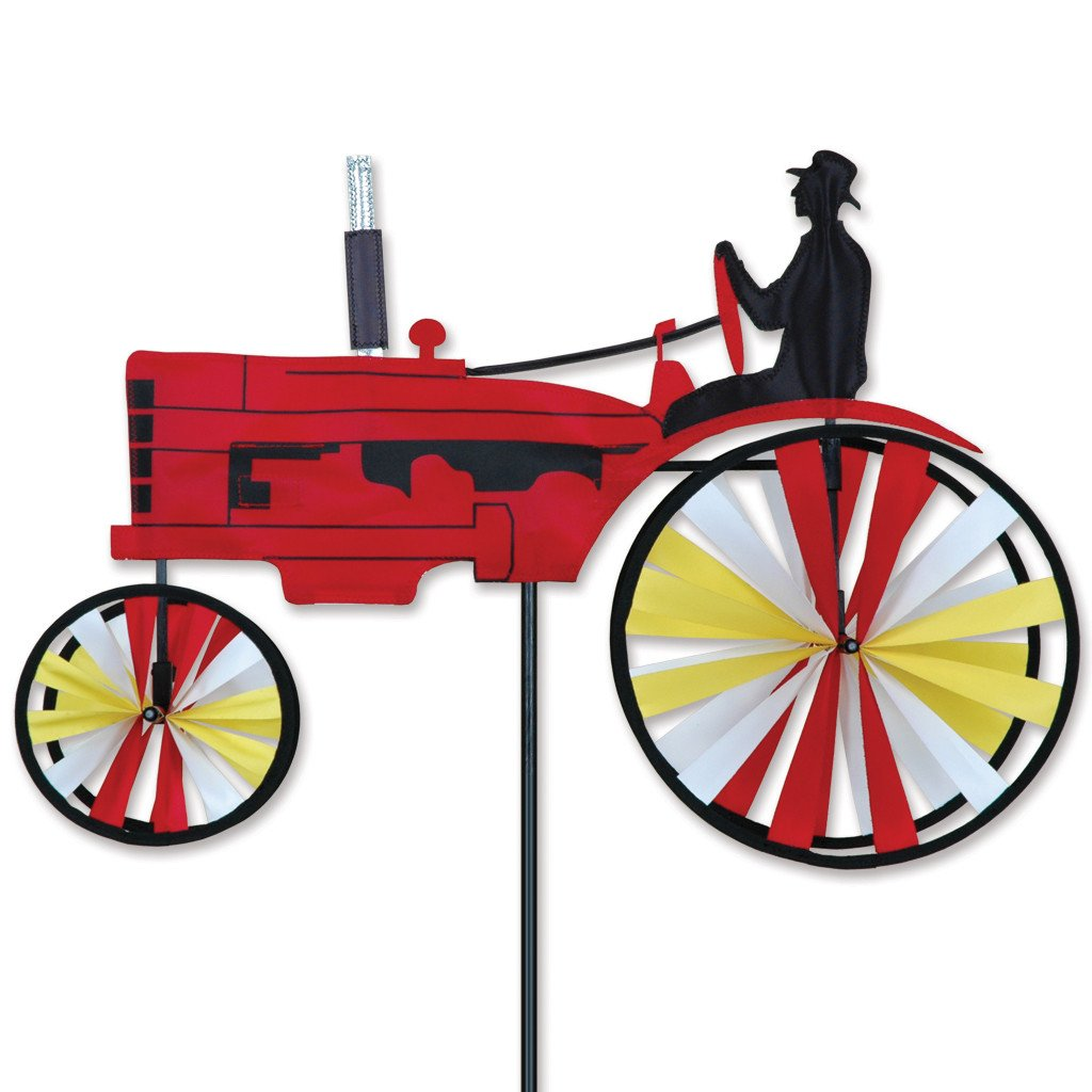 Premier Kites 23 in. Old Tractor Spinner - Red