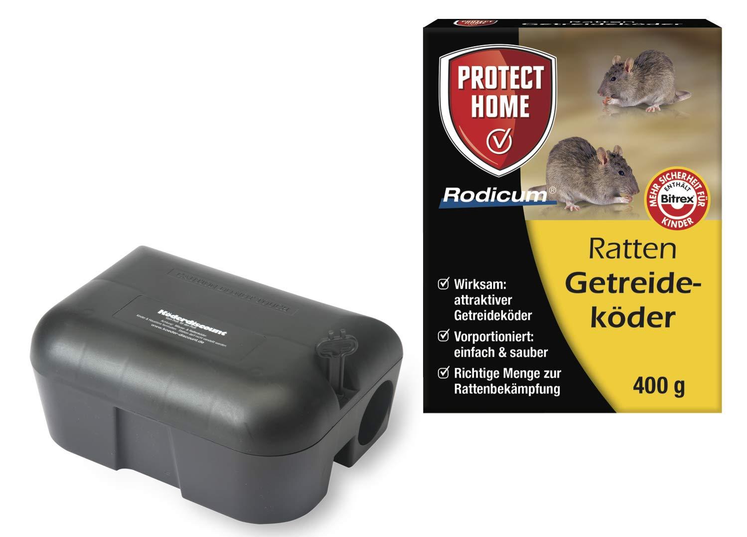 K/öder-Discount Sparset Rattenbek/ämpfung 2 K/öderboxen Plus 500g Brumolin Ultra Rattengift