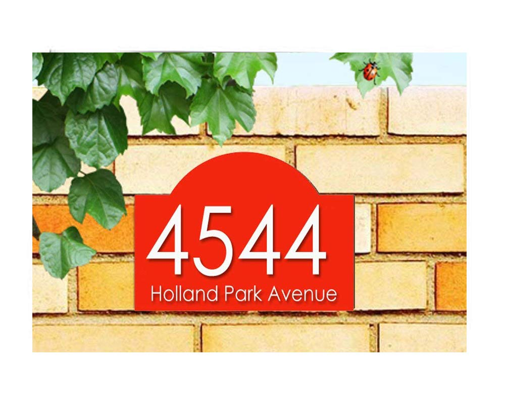 Acrylic master house number plaque 1 5mm aluminium with digital uv print red white digits amazon co uk garden outdoors