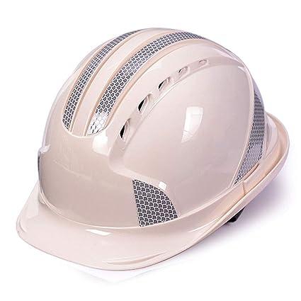 MZ JH& Casco de construcción Casco Ajustable con Tira Reflectante, ANSI-obediente, Equipo
