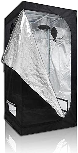 Yescom 31 x31 x63 210D 100 Reflective Diamond Mylar Hydroponics Indoor Grow Tent Non Toxic Planting Room Window Cabine