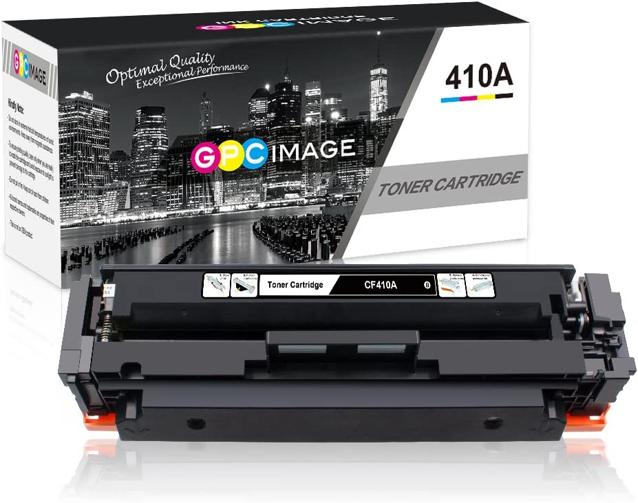 GPC Image Compatible Toner Cartridges Replacement for HP 410A CF410A to use with Laserjet Pro MFP M477fdw M477fdn M477fnw M452dn M452nw M452dw Printer Toner (1 Black)