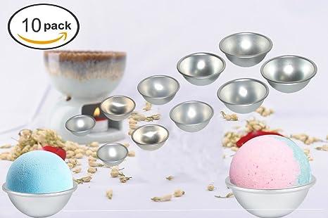 ceeyali profesional Metal de aluminio baño bomba Moldes para casero DIY de lata de bola fácil