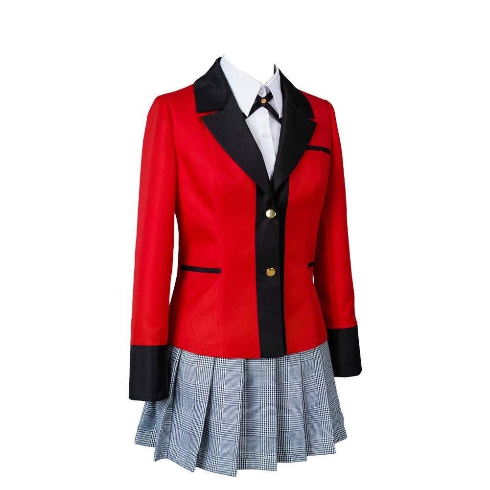 73ae11e2074 CosplayLife Kakegurui Jabami Yumeko Uniform Cosplay Costume | Full Set  Dress Jacket