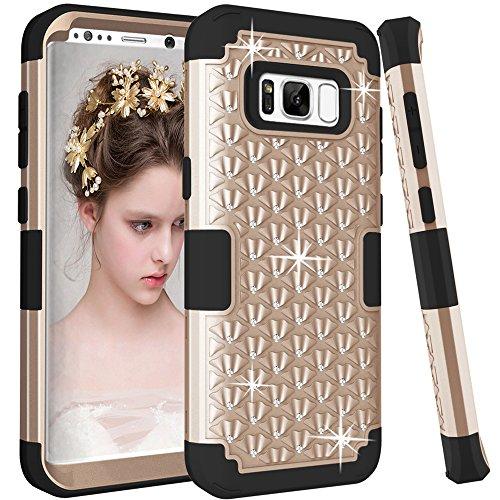 Cheap Cases Samsung Galaxy S8 Plus Case, TOPBIN [Shiny Bling] & [Diamond] 3 in..
