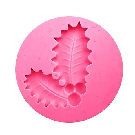 joyliveCY Árbol de Navidad copo de nieve decoración para tartas Fondant molde de silicona, silicona