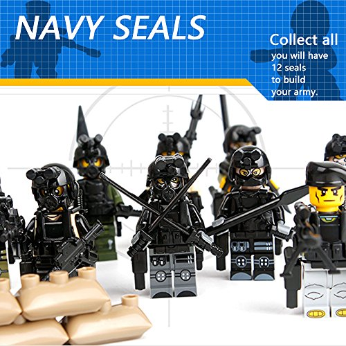 Review 12pcs Army Minifigures SWAT