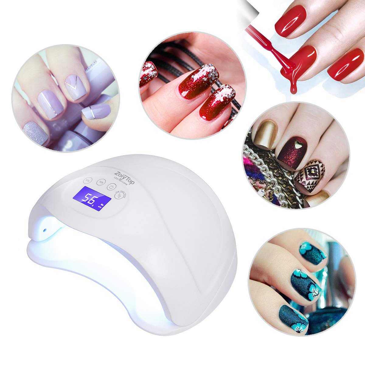 Nail Dryer, ZoiyTop 48W LED/UV Nail Lamp for Gels Nail Polish with 3 Timer Setting +low power consumption mode