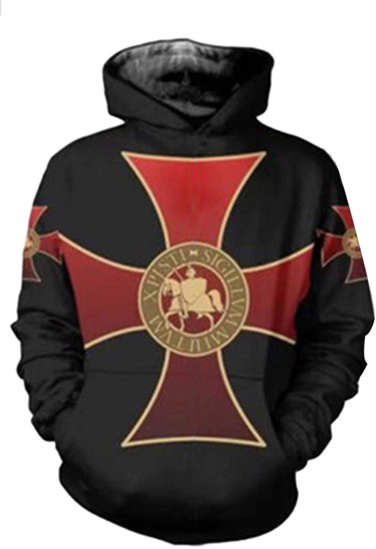 Disfraz de Caballero Templario Sudadera con Capucha Cruzado Cruzar ...