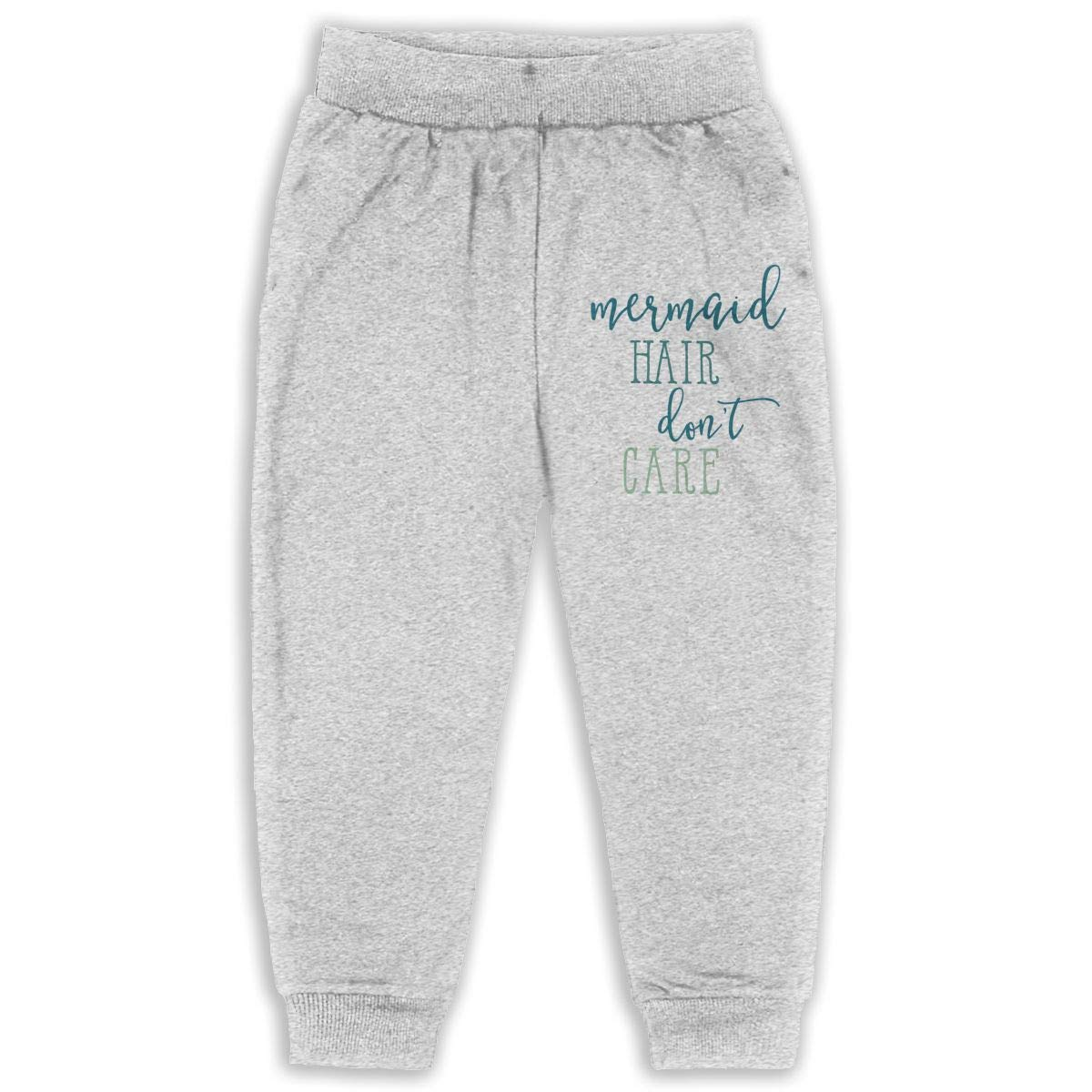 Mermaid Hair Dont Care Kids Cotton Sweatpants,Jogger Long Jersey Sweatpants