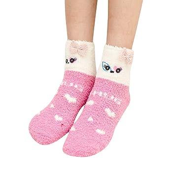 Childrens Cartoon Non-slip Fluffy Warm Bed Sleep Socks Xmas Christmas Gift