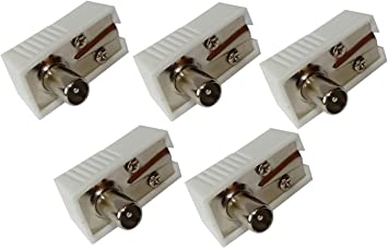 AERZETIX: 5 x Conectores Enchufe Antena TV 9,5mm IEC 169-2 Codo Tele coaxial para Extension