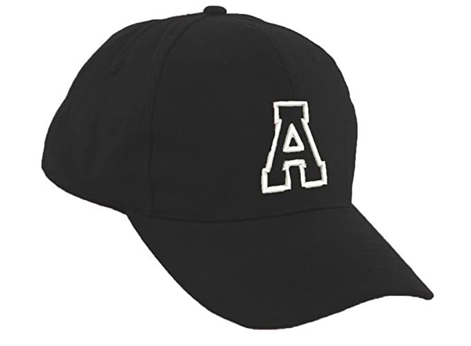 Romens Ltd Niña Niño Gorra De Beisbol Protección Solar Kids Niñas Negro Sombrero Letra del Alfabeto