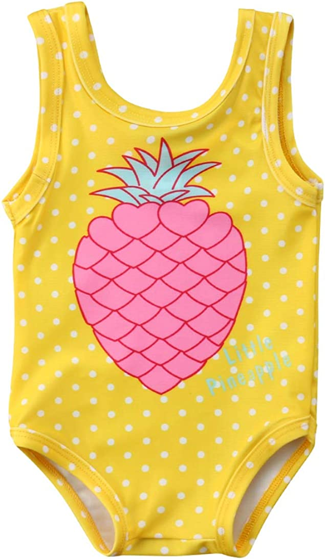 Toddler Baby Girls Rainbow Cloud Swimsuit Bathing Suit One Piece