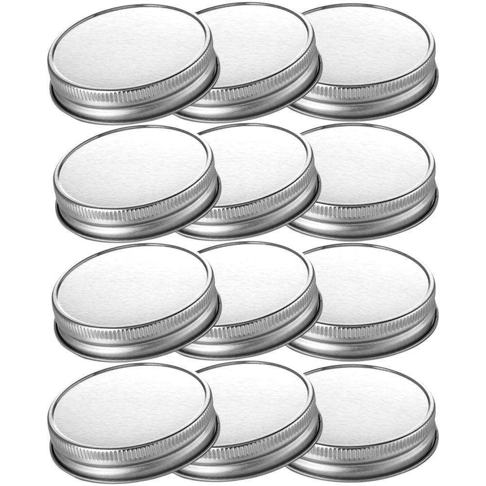 CONNYAM 12pcs Pack Wide Mouth Mason Jar Lids for Ball & Kerr Mason Jar, Leak Free and Airtight